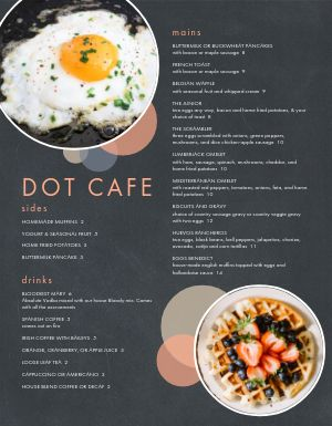 Cafe Weekend Breakfast Menu