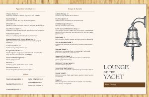 Lounge Fine Dining Folded Menu