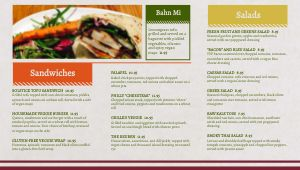 Colorful Vegan Digital Menu Board