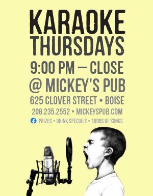 Pub Karaoke Flyer