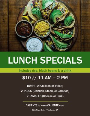 Lunch Deals Flyer