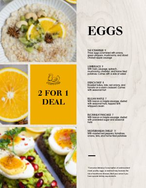 Woodgrain Breakfast Menu