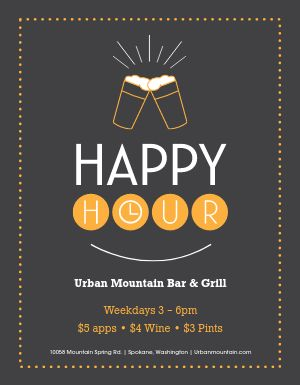Happiness Hour Flyer
