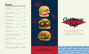 Burger Cafe Takeout Menu