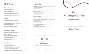 Wine Bar Folded Menu