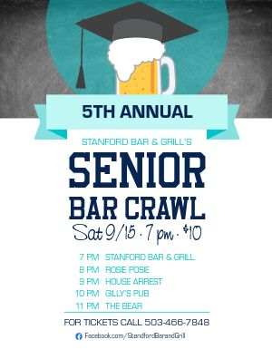 Campus Bar Crawl Flyer