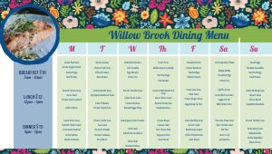 Floral Dining Hall Digital Menu Board