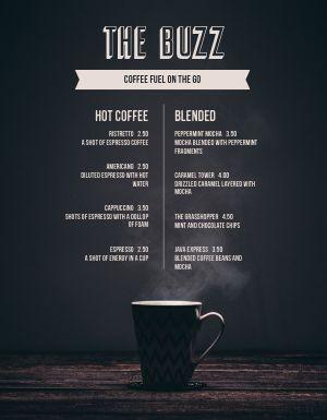 Bold Coffee Menu