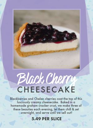 Cheesecake Tabletop Insert