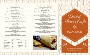 Floral Middle Eastern Takeout Menu