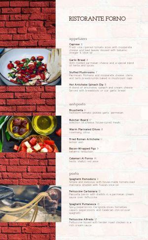 Brick Italian Menu