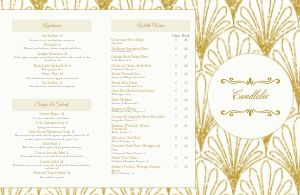 Gold Fine Dining Folded Menu