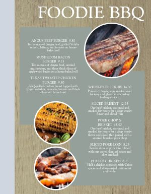 Food Lover BBQ Menu