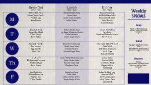 Cafeteria Dining Hall Digital Menu Board