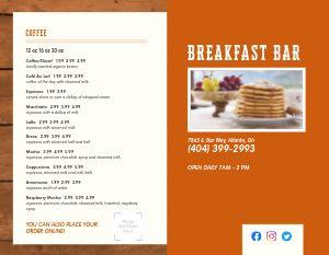 Breakfast Bifold Takeout Menu