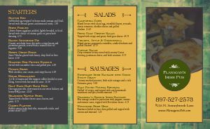 Brick Pub Irish Takeout Menu