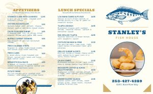 Essential Seafood Takeout Menu