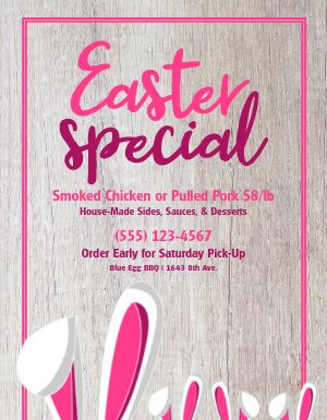 Easter Promotion Flyer