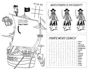 Pirate Life Kids Menu
