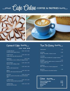 French Coffee Menu