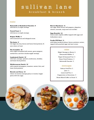 Breakfast Brunch Specials Menu