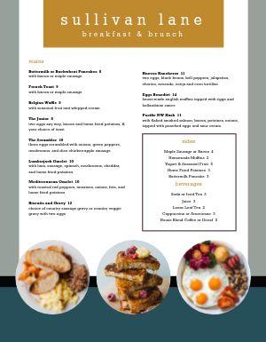 Breakfast Brunch Specials Menu