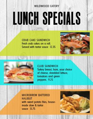 Sandwich Lunch Specials Menu