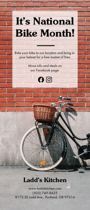 Bike Month Rack Card
