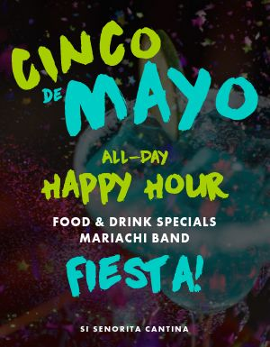 Cinco De Mayo Happy Hour Flyer