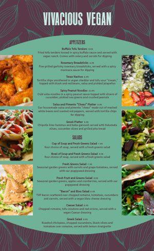 Abstract Vegan Menu
