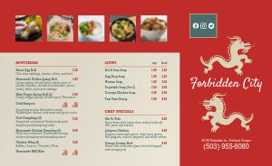 Chinese Dinner Takeout Menu