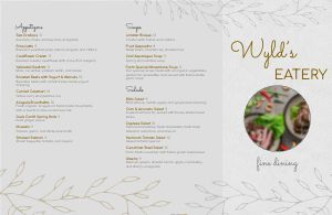 Restaurant Fine Dining Folded Menu