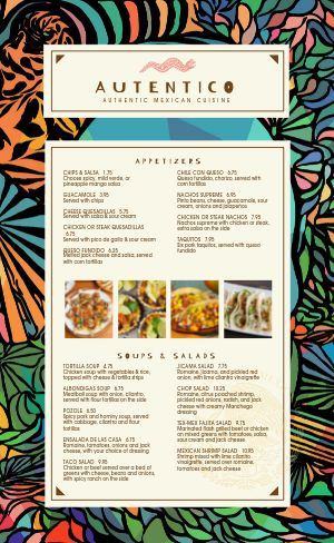 Abstract Mexican Menu