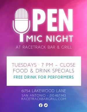 Restaurant Open Mic Flyer