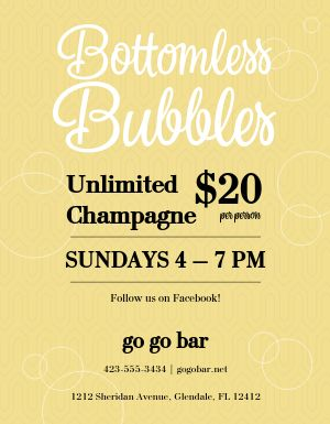 Champagne Specials Flyer