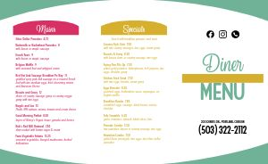 Colorful Diner Takeout Menu