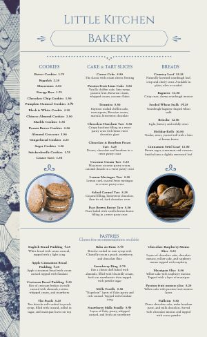 Honeycomb Bakery Menu