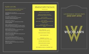 Contemporary Catering Takeout Menu