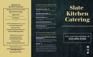 Dining Catering Takeout Menu