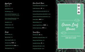 Leaf Chinese Takeout menu