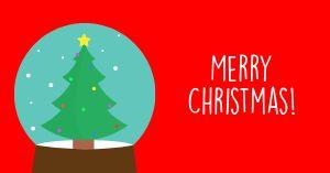 Christmas Snow Globe Facebook Post