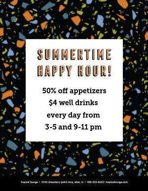 Summer Happy Hour Flyer