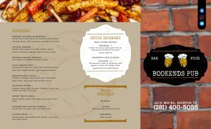 Modern Pub Takeout Menu Example