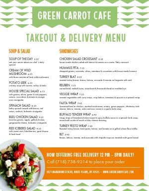 Open Delivery Takeout Menu