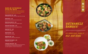 Vietnamese Food Takeout Menu