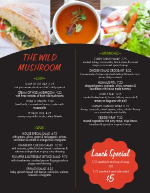 Cafe Lunch Promo Menu