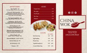 Chinese Dining Takeout Menu