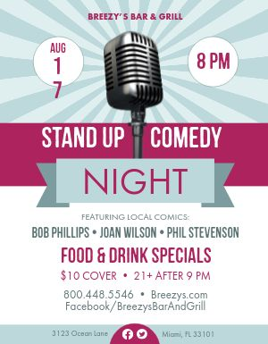 Standup Comedy Flyer