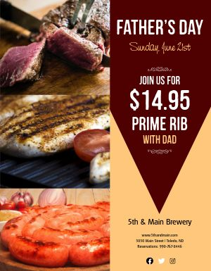Fathers Day Grill Flyer