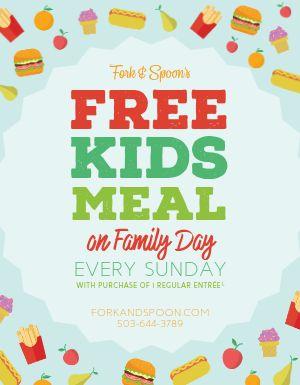 Kids Meal Flyer
